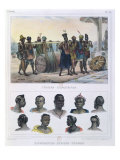 Slaves Carrying a Barrel and Black People from Different Nations Giclee Print by Jean Baptiste Debret