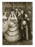 Marriage of Prince of Wales with Princess Alexandra of Denmark, St. George's Chapel,1863 Reproduction procédé giclée par Amedee Forestier