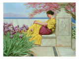 Under the Blossom that Hangs on the Bough, 1917 Giclee Print by John William Godward