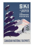 Advertising the Canadian Ski Resort Jasper Giclee Print