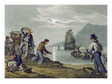 Turtle Catching on Land, engraved by Matthew Dubourg Giclee Print by John Heaviside Clark