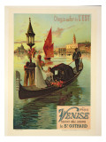 Reproduction of a Poster Advertising the Eastern Railway from Paris to Venice Giclee Print by Hugo D' Alesi