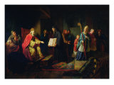 Vladimir Svyatoslavich the Great Choosing the Religion in 987 Giclee Print by Johann Leberecht Eggink