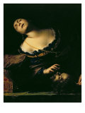 Herodias and the Head of St. John the Baptist Giclee Print by Francesco Del Cairo