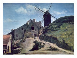 A Windmill at Montmartre, 1840-45 Giclee Print by Jean-Baptiste-Camille Corot