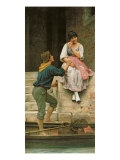 The Fisherman's Wooing, from the Pears Annual, Christmas, 1894 Giclee Print by Eugen Von Blaas