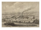 View of the Factory at Trois-Fontaines, 1883 Giclee Print by Michel Charles Fichot