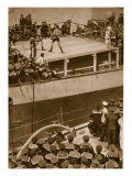 Boxing Competition Aboard a Warship, with the Crew of Second Ship as Additional Spectators, 1914-19 Giclee Print