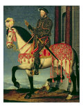 Equestrian Portrait of Francis I of France Reproduction proc&#233;d&#233; gicl&#233;e par Francois Clouet