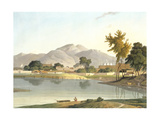 View at Nijeibabad, near the Coaduwar Gaut, Rohilcund, plate XIII from Part 6 of 'Oriental Scenery' Giclee Print by Thomas Daniell