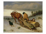 Seeing off the Dead, 1865 Giclee Print by Vasili Grigorevich Perov