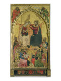The Coronation of the Virgin with Saints and Prophets, c.1372 Giclee Print by Jacopo Di Cione Orcagna