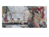 Ulysses and the Sirens, c.1900 Giclee Print by Otto Greiner