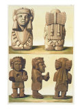 Aztec Idols, Mexico Giclee Print by Gallo Gallina