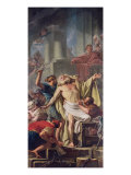 The Flagellation of St. Andrew, 1761 Lámina giclée por Jean Baptiste Deshays De Colleville