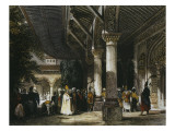 Interior of Topkapi Palace with Gate of Felicity Giclee Print by Thomas Allom