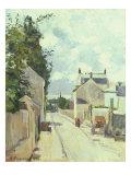 Rue de l'Ermitage, Pontoise, 1874 Giclee Print by Camille Pissarro