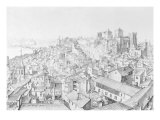 View of the Town of Avignon and its Surroundings Giclee Print by Etienne Martellange