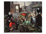 Vegetable and Flower Market Giclee Print by Arnout de Muyser