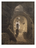 Catacombs of San Calixto in Rome, Illustration from the Album 'Rome Dans Sa Grandeur', 1870 Giclee Print by Felix Benoist
