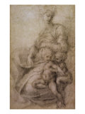 The Virgin and Child with the infant Baptist, c.1530 Giclee Print by  Michelangelo Buonarroti