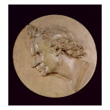 Medallion Depicting Joseph Giclee Print by Jean-Antoine Houdon