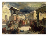 The Veche in the Republic of Novgorod, 1861 Giclee Print by Vasily Grigorievich Khudyakov