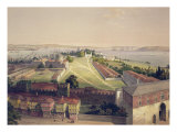 Panorama of Constantinople, Plate 22 from 'Aya Sofia Constantinople', Engraved by Louis Haghe Giclee Print by Gaspard Fossati