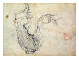 Preparatory Study for the Arm of Christ in the Last Judgement, 1535-41 Giclee Print by  Michelangelo Buonarroti