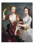 Martha and Teresa Blount, 1716 Giclee Print by Charles Jervas