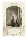 Madame Celeste as the Princess Katherine, Act V Scene 2 of 'Henry V', from a Daguerreotype Giclee Print by John Jabez Edwin Paisley Mayall