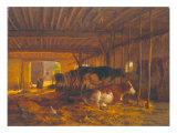 The Cow Shed Giclee Print by Jean Louis van Kuyck