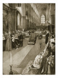 Sermon Preached by Bishop of Chichester at Coronation of Mary I from 'The Illustrated London News' Giclee Print by Amedee Forestier