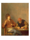 Two Smokers in an Interior, 1643 Giclee Print by Adriaen Jansz. Van Ostade