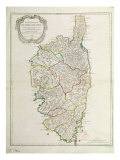 Map of Corsica Giclee Print