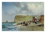 Crinolines on the Beach, Fecamp, 1871 Giclee Print by Jules Achille Noel