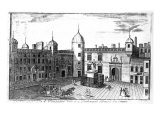 A Perspective View of the Parliament House and Exchequer, Edinburgh, Engraved by A. Bell Giclee Print by John Elphinstone