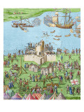 The Encampment of the English Forces Near Portsmouth During the Battle of the Solent, 1778 Giclee Print by James Basire