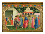 The Birth and Marriage of the Virgin, from the predella of the Annunciation altarpiece, c.1430-32 Giclee Print by  Fra Angelico