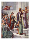 The Investiture of Edward the Black Prince as Knight of the Garter, 1346 Giclee Print by Charles West Cope