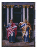St. Peter and St. Paul, from a Facsimile of the Breviary of King Philip Ii of Spain, 1569 Giclee Print by Julian Fuente del Saz