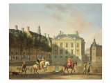 The Mauritshuis from the Langevijverburg, the Hague, with Hawking Party in the Foreground Giclee Print by Gerrit Adriaensz Berckheyde