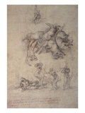 The Fall of Phaethon, 1533 Giclee Print by  Michelangelo Buonarroti