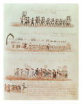 St. Patrick's Day Procession for Henry Clay, Governor Francis Schunk and James Polk in 1844 Giclee Print