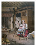 Interior of a Breton Home, late 19th century Giclee Print by Henriette Jacott Cappellaere