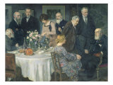 A Group of Artists, 1929 Giclee Print by Jules Alexandre Grun