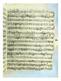 A Page from One of the Only Two Copies known to Exist of the First Printing of Handel's Messiah in  Giclee Print