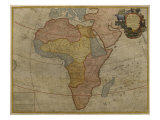 Map of Africa, Published in 1700, Paris Reproduction proc&#233;d&#233; gicl&#233;e par Guillaume Delisle