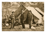 Portrait of Allan Pinkerton, President Lincoln and Major J. A. Mcclernand, 1862 Giclee Print by Mathew Brady