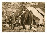 Portrait of Allan Pinkerton, President Lincoln and Major J. A. Mcclernand, 1862 Giclee Print by Mathew Brady & Studio